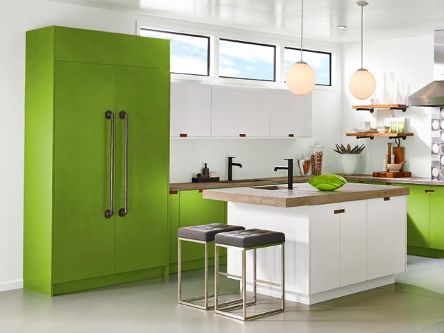 кухня-в-зелено-білих-тонах
